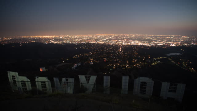 view from hollywood sign - hollywood stock videos & royalty-free footage