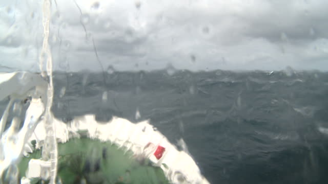 view from icebreaker bridge in choppy seas. drake passage. off south shetlands - drake passage stock videos and b-roll footage