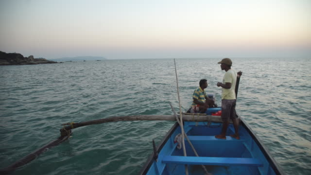 view from Indian fishing boat