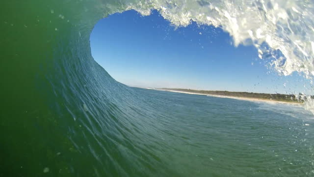view from inside a wave pov (tube) - tubing stock videos and b-roll footage