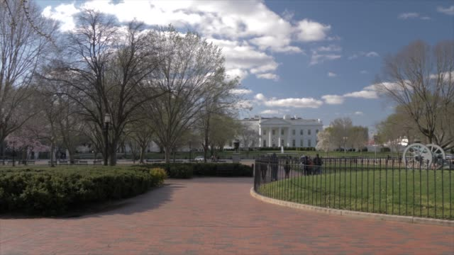 view from lafayette square of white house, washington dc, united states of america, north america - lafayette square washington dc stock videos & royalty-free footage