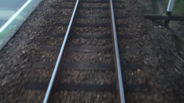view from last car of moving of steam train - rail transportation stock videos and b-roll footage