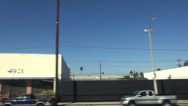 view from los angeles metro train - telegraph pole stock videos and b-roll footage