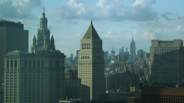 view from lower manhattan - courthouse stock videos & royalty-free footage