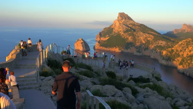 View from Mirador Es Colomer to Cap Formentor, Majorca, Balearic Islands, Spain, Mediterranean, Europe