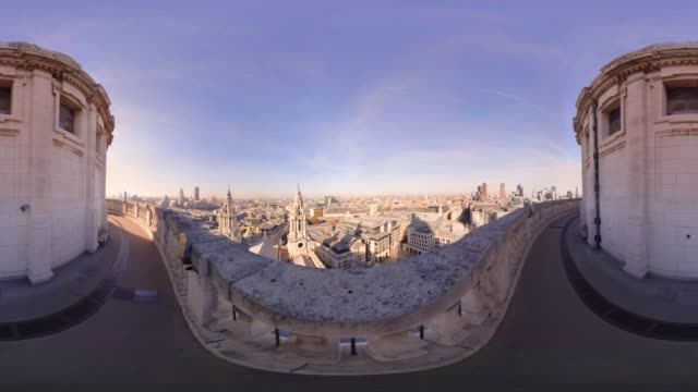 A 360VR view from over London from the top of St Paul's Cathedral
