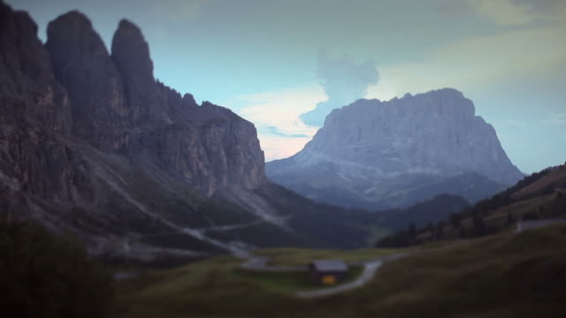 View from Passo Gardena on the Dolomites