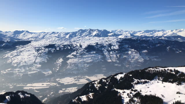 View from Piz Scalottas over Swiss alps