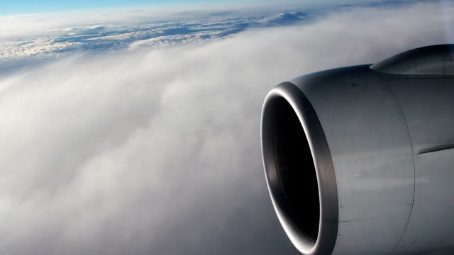 view from plane window - aircraft wing stock videos & royalty-free footage