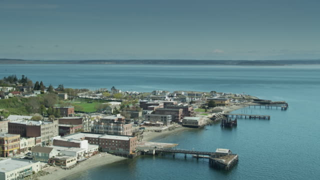 View From Port Townsend Towards Whidbey Island - Aerial