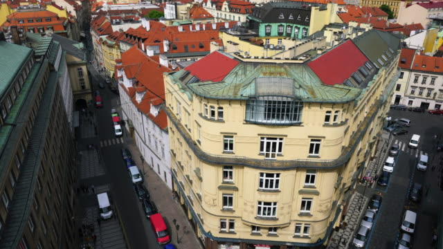 view from powder tower in prague - stare mesto stock videos and b-roll footage