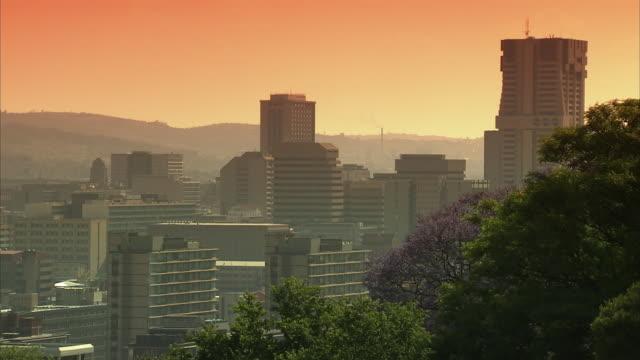 ws pan view from pretoria cbd to urban dwellings / pretoria, tshwane, south africa - pretoria stock videos & royalty-free footage