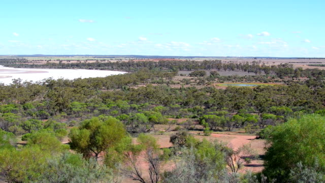 view from rock formation eaglestone rock over the scrubland in the wheatbelt. western australia - stone material stock videos & royalty-free footage