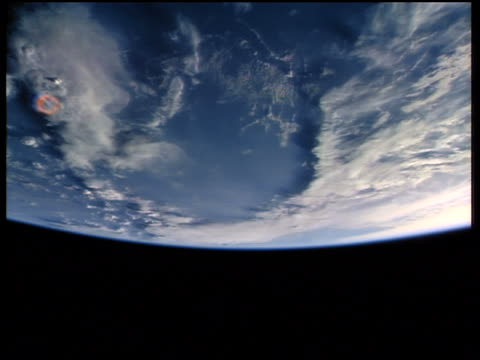 view from space of north africa / earth's horizon on bottom of screen - londonalight stock videos and b-roll footage