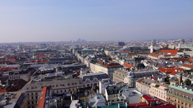 blick vom stephansdom- stephansdom in wien, österreich - panorama stock-videos und b-roll-filmmaterial