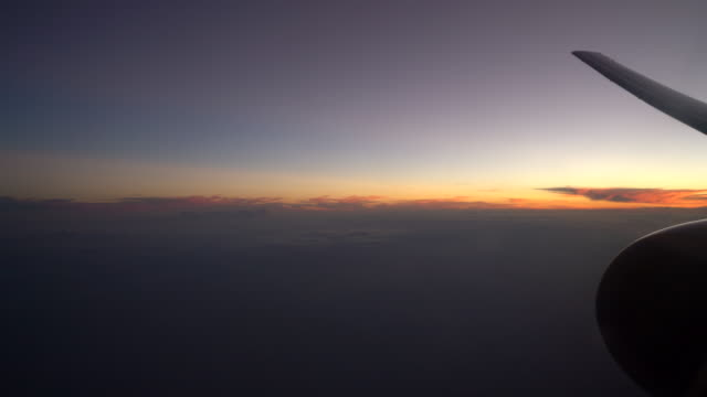 View From the Airplane Window sunset