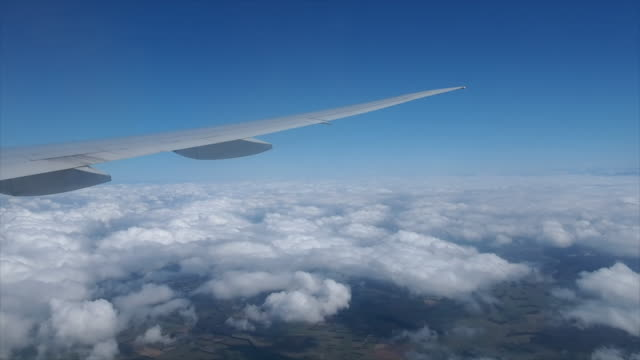 view from the airplane window - turbine stock videos & royalty-free footage
