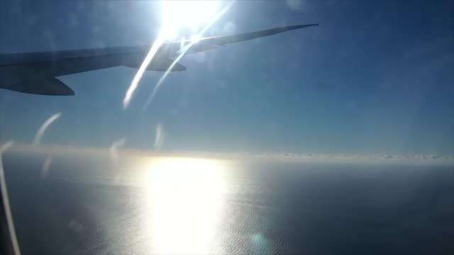Vista dalla finestra di aeroplano