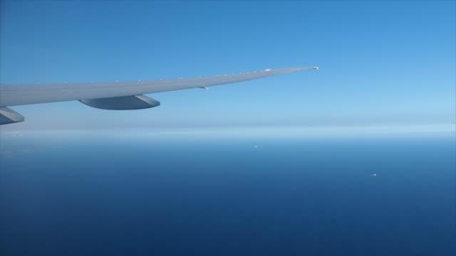 vidéos et rushes de vue depuis la fenêtre de l'avion - hublot
