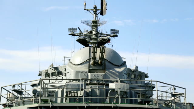 view from the deck of a warship