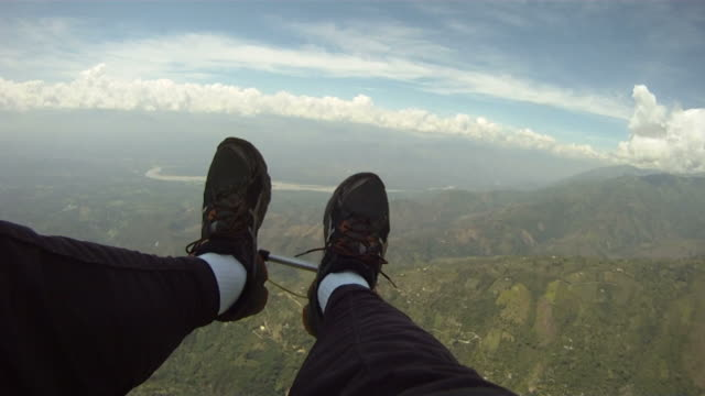 View From The Lap Of A Para-Glider.