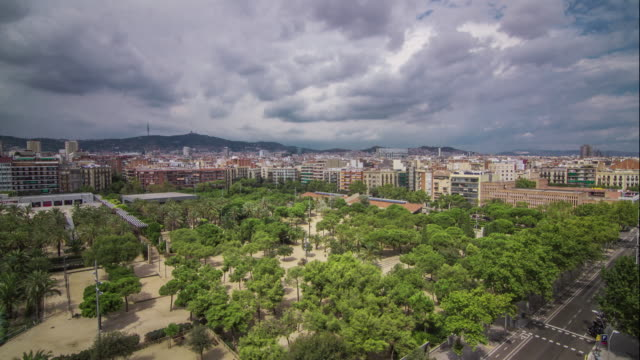 view from the les arenes mirador in barcelona spain. august 2013. - 2013 stock videos & royalty-free footage