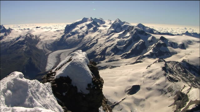 a view from the matterhorn summit - pennines stock videos & royalty-free footage