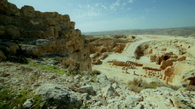 view from the mountain on herodion ruins - jerusalem stock videos & royalty-free footage