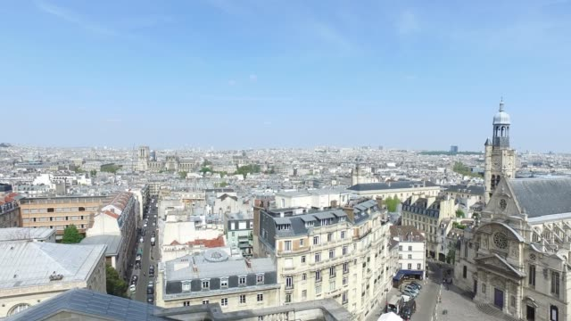 view from the pantheon - pantheon paris stock videos & royalty-free footage