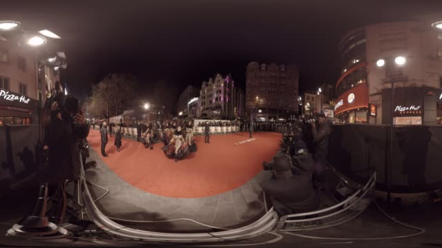 360/VR view from the red carpet of the 'I Am Bolt' premiere in Leicester Square London UK