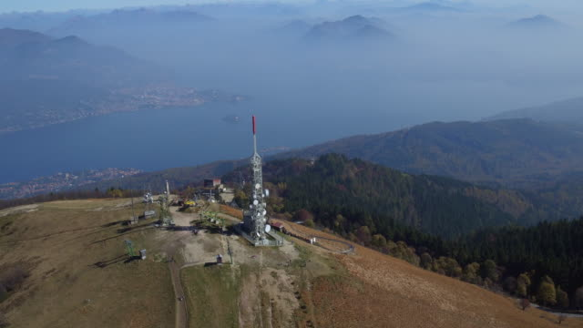 View from the top of Mottarone mountain