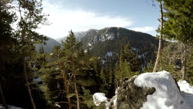 vídeos y material grabado en eventos de stock de vista desde la parte superior de la montaña - aguja parte de planta