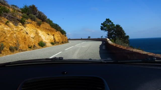 view from the window of a car. - provence alpes cote d'azur stock videos & royalty-free footage