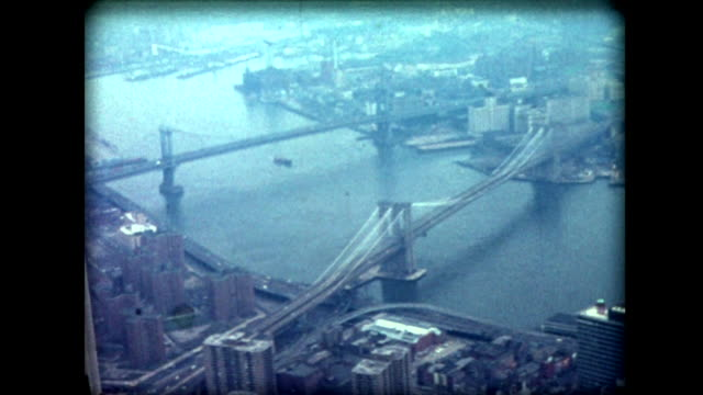 stockvideo's en b-roll-footage met 1976 view from top of world trade center - petronas twin towers