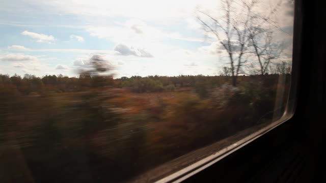 view from train as it passes along tracks - zugperspektive stock-videos und b-roll-filmmaterial