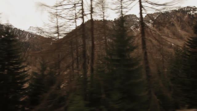 View from train of St. Moritz Switerland