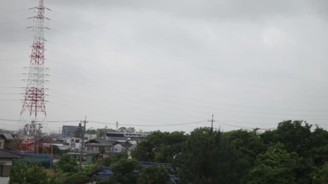 View from Train, Tokyo-Kyoto Travel.