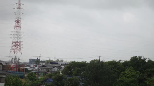 東京京都旅行、電車からの眺め。