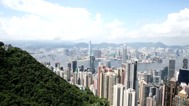 HD VDO : View from Victoria Peak to the bay