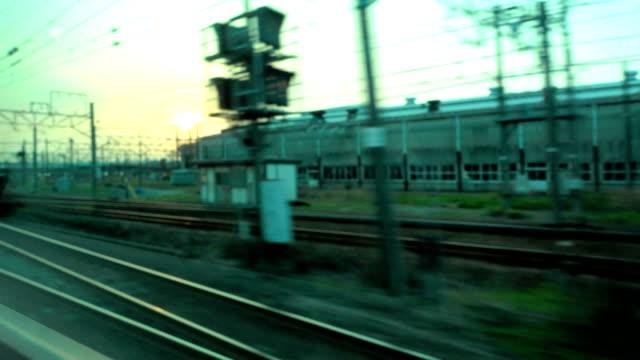 Ansicht von Fenster in japanischen mit dem Zug.