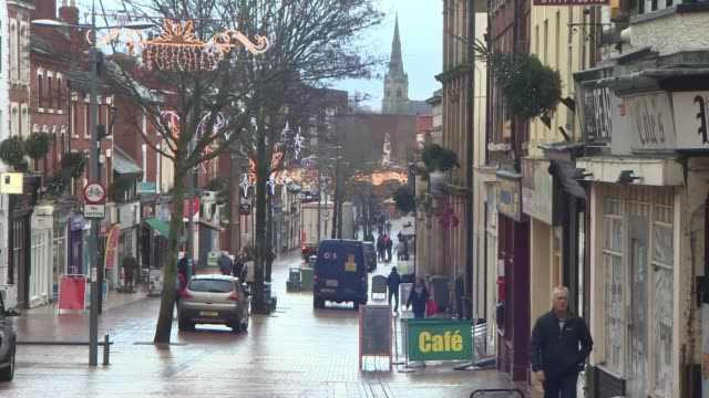 view from worksop; uk, england, nottinghamshire: worksop; general views of worksop town and vox pops. england: nottinghamshire: worksop: int various... - hair band stock videos & royalty-free footage