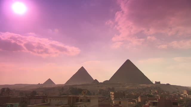WS View Giza pyramids at sunset / Giza, Egypt