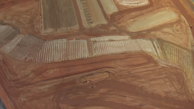 ws aerial td view high over mill tailing site of umtra project / moab, utah, united states - natural pattern stock videos & royalty-free footage
