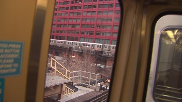 view inside a chicago l train car on january 21 2015 in chicago illinois - chicago 'l' stock videos & royalty-free footage