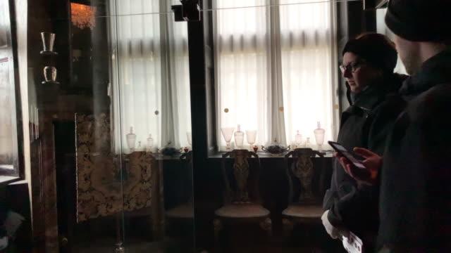 a view inside the rosenborg castle in copenhagen denmark on december 16 2018 - oresund region stock videos & royalty-free footage