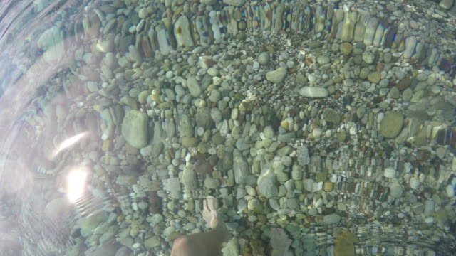 view into crystal water of tranquil sea - human limb stock videos & royalty-free footage