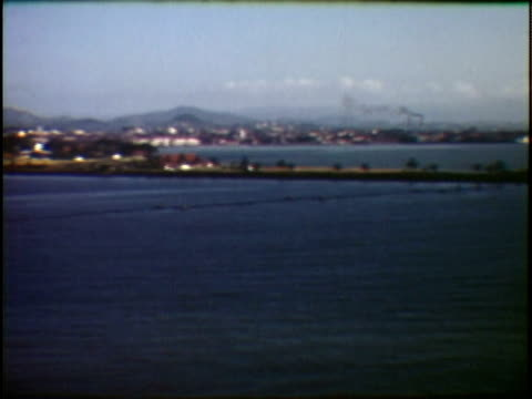 WS HA PAN View into land of city and surrounding hills Panama City Panama