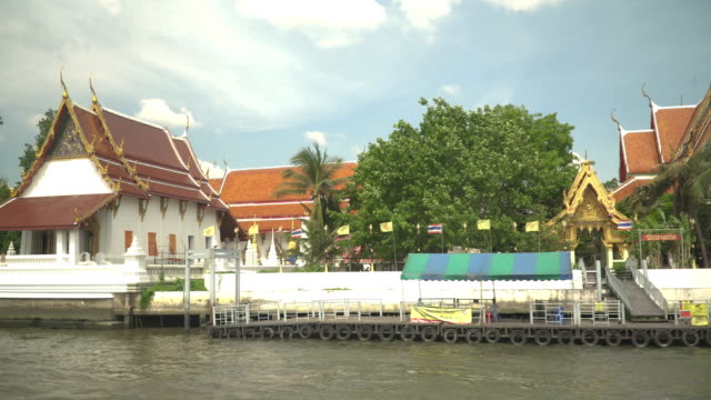 view into land of temple while sailing in traveling boat