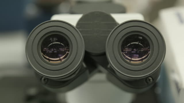 view into microscope, close up - aerospace stock videos & royalty-free footage