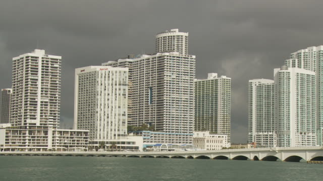 view miami bridge usa - venetian causeway bridge stock videos & royalty-free footage